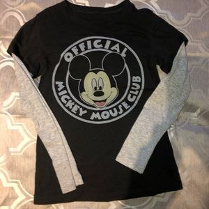 Disney Mickey Mouse layered Long Sleeve T-shirt